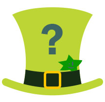 Irish hat and star irish lotto