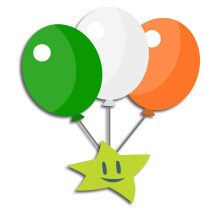 Irrish lotto sndicate balloons