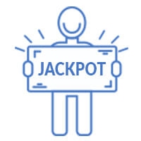 Man with jackpot check
