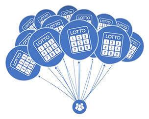 Bolão loteria balões