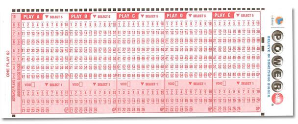 Bilhete de papel de loteria de Califórnia
