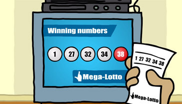 Megalotto draw in tv e-completo match ticket of megalotto
