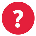bola vermelha com ponto de interrogação