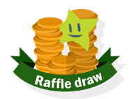 Raffle Draw - coins and irish lotto star