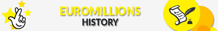 Euromillions History text and logo