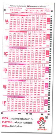Illustration of Lotto hotpicks retailer playcard